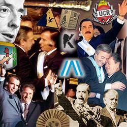 Alfonsín, Menem y Kirchner