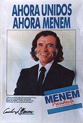 Café noventista con Menem