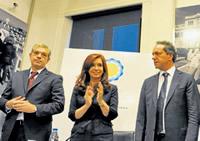 Scioli marca la cancha de Cristina